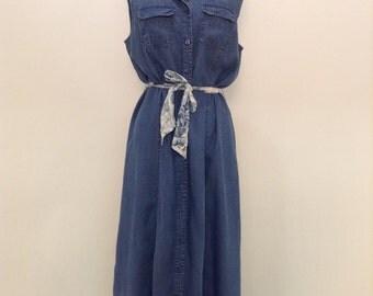 Denim ButtonUp Maxi Dress