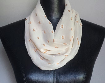 Orange Apricot Velcro Cowl Neck Scarf