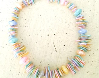 Vintage Multi Colored Shell Necklace