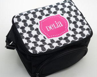 Personalized Lunch Box - Monogram Lunch Bag - Custom Lunch Container with Shoulder Strap - Insulated Lunch Bag