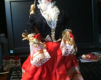European Vintage Doll in Costume of Country