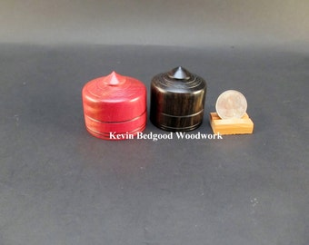 Box boxes Lidded Container Wedding Ring Ebony and Pink Ivory wood, jewelry stash