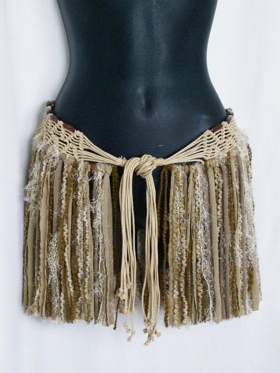 Festival Skirt Hip Wrap Hip Belt Gypsy Boho Skirt Pixie