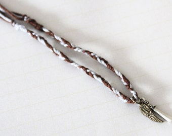 Mara Dyer inspired Noah Shaw charm bracelet - Michelle Hodkin - Wing, Sword, Feather