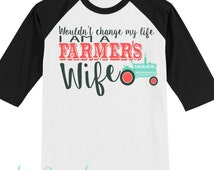 Farmer's Wife - Farm Wife - Farmer - God Made A Farmer - Farm Life - Country Living - Farmer Sign -  Farm - God Farmer - Farming Wife