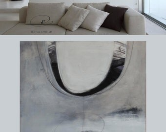 Original large abstract ink art painting on canvas- Wall art canvas painting , circles art painting, large canvas, abstract art canvas, art