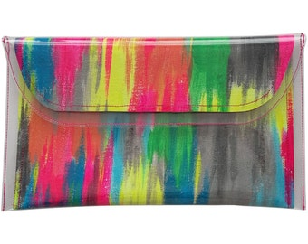 Clutch Bag - Painted Clutch - Evening Bag - Handpainted Clutch Bag - Party Clutch - Gift For Her - Going out Bag - Make Up Bag
