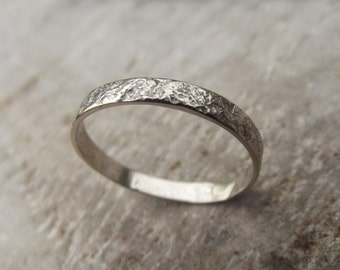 White gold, handmade ring, 18ct gold ring, drystone wall, wall ring, growth ring, one of a kind, cornish ring, wedding ring, unique ring, UK