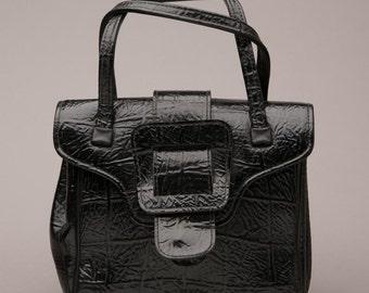 Vintage Black Vegan Handbag