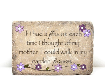 Remembrance Stone. Garden Decor/ Sympathy Gift/ Garden Stone/ Indoor or Outdoor/ 6x9 Concrete Rustic Decor/ In Memory of