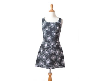 90s Dress, 1990s Dress, 90s Clothing, 1990s Clothing, 90s Costume, 1990s Costume, 1990s Vintage, 90s Vintage, Womens Dress, Black Floral