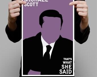 "Michael Scott Art Print / Poster  - 11"" x 17"""