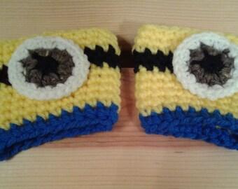 Crocheted Minion Cozy