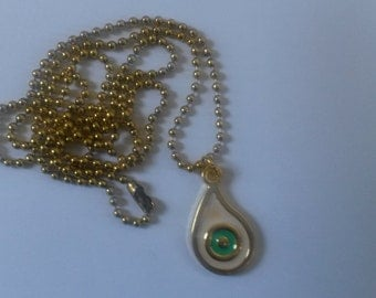 Ballchain necklace with pendant, gold color