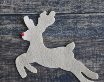 Rudolph the Red Nose Reindeer #2 Felt Ornament