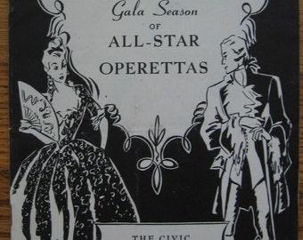 1946 Third Annual Gala Season of All-Star Operettas