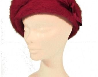 Pink Angora Vintage Hat