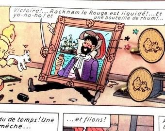 Tintin and snowy cufflinks