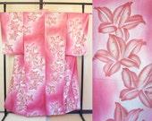 Pink flower summer kimono...