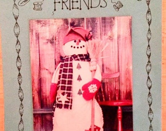 Pattern - Stuffed snowman craft pattern