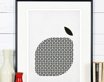 Affiches r tro de fruits art cuisine pomme poire design for Art cuisine rm 101 blanc