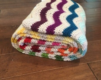rainbow baby blanket, rainbow baby,  blanket crochet, crochet baby blanket, chevron blanket