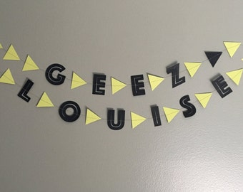geez louise garland | 2 colors | 4.5 ft