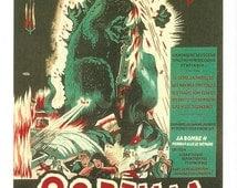 Godzilla Postcard