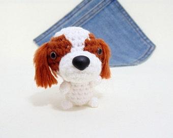 Amigurumi Cavalier King Charles Spaniel, crochet Cavalier King Charles Spaniel plushie. Crochet dog. Stocking stuffer.