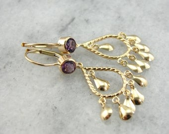 Chandelier Earrings with Amethyst Accents 9YR7DC-N