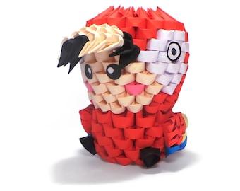 3D Origami Parrot Kid