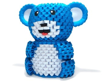 3D Origami Teddy Bear