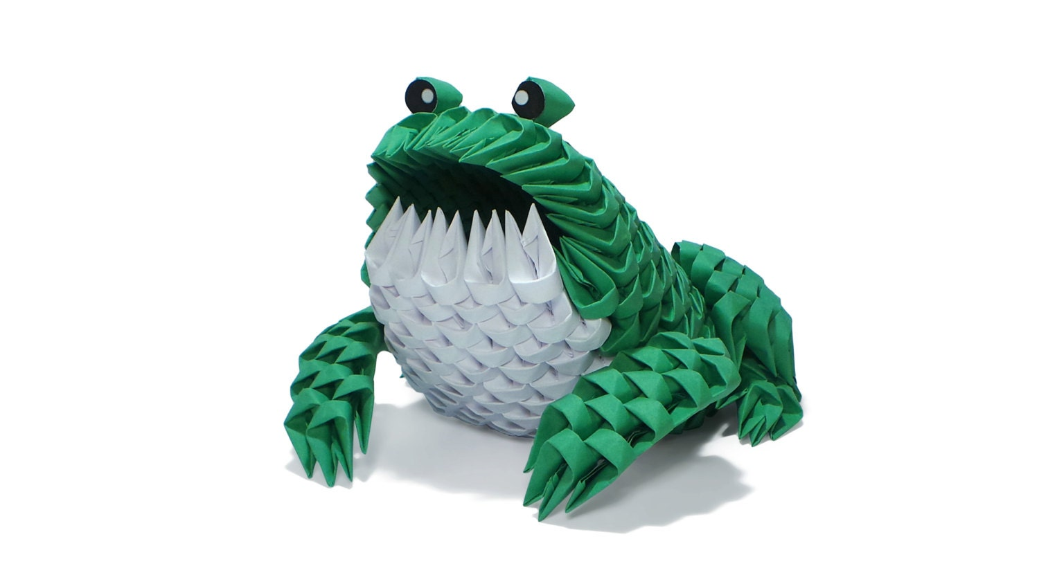3D Origami Frog by Girnelis on Etsy - photo#10