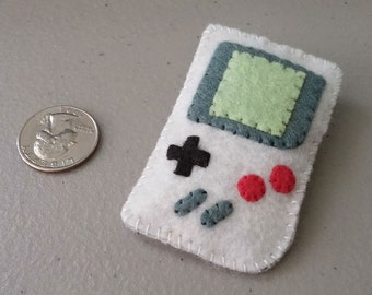 Game Boy Felt Pin