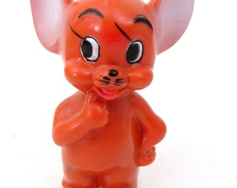 """Vintage Tom and Jerry """" Jerry """" Wind Up Toy / 1967 Metro Goldwyn Mayer Inc / Collectible Toy Made in Japan"""