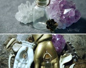 Empty Bottle Wire Wrapped Necklace