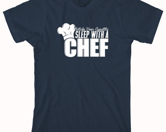 Satisfy Your Appetite Sleep With A Chef Shirt, funny chef shirt, culinary school student, gift idea - ID: 352