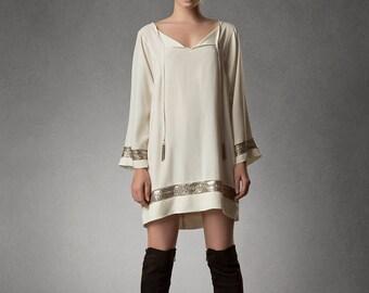 SAINT Silk Tunic Dress