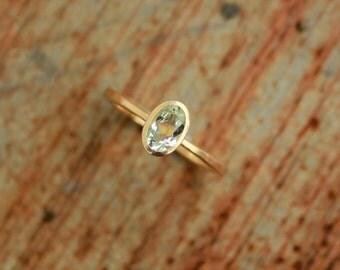 18k ring with beryl