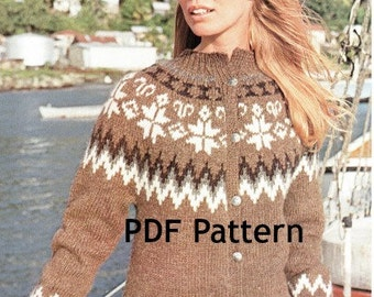 Yoke Nordic Sweater Pattern 43