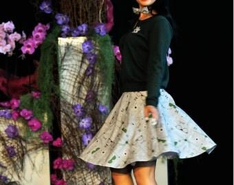 Skirt printed skater E = Mc2 - Geek - Retro - Vintage - Rockabilly