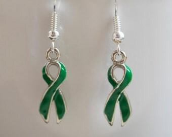 Liver Cancer Ribbon Awareness Earrings
