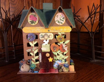Fairy House, faerie house, doll house, dollhouse (age 12 and over), troll house, gnome home, treasure box, keepsake box, jewelry box, gift