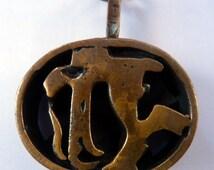 More Unusual Pentti SARPANEVA Cast Bronze Pendant. Made in Finland, 1960s
