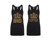 Crown Big Little Tank, Gift for Little, Crown Shirt, Little Reveal, Little Reveal Gift, Big/Little Reveal, Grand Big Gift, Cute Sorority