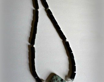 Simple Black Dalmation Nation Necklace. Gifts for her. Unique. Beaded Necklace.