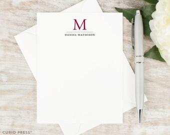 Personalized Monogram Stationery / Professional Stationary / Personalized Note Cards / Personalized Stationery // TRADITIONAL MONOGRAM