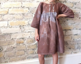 Martine dress for girls from hand dyed, recycled fabric