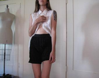 Junya Watanabe Black Textured Bubble Shorts