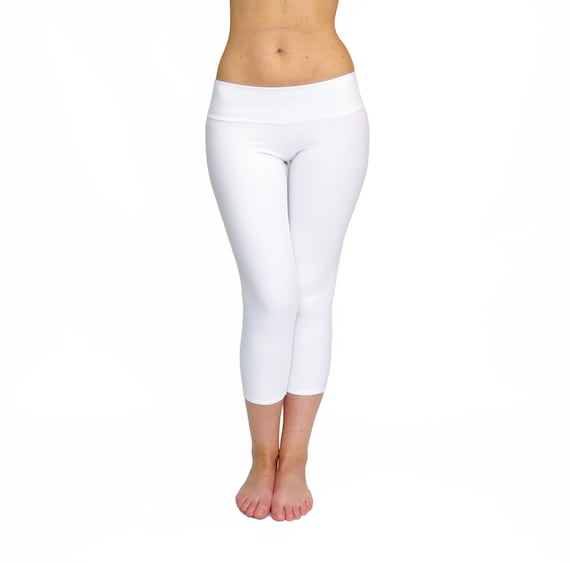 White Yoga Pants Running Tights Workout Wear Fitness